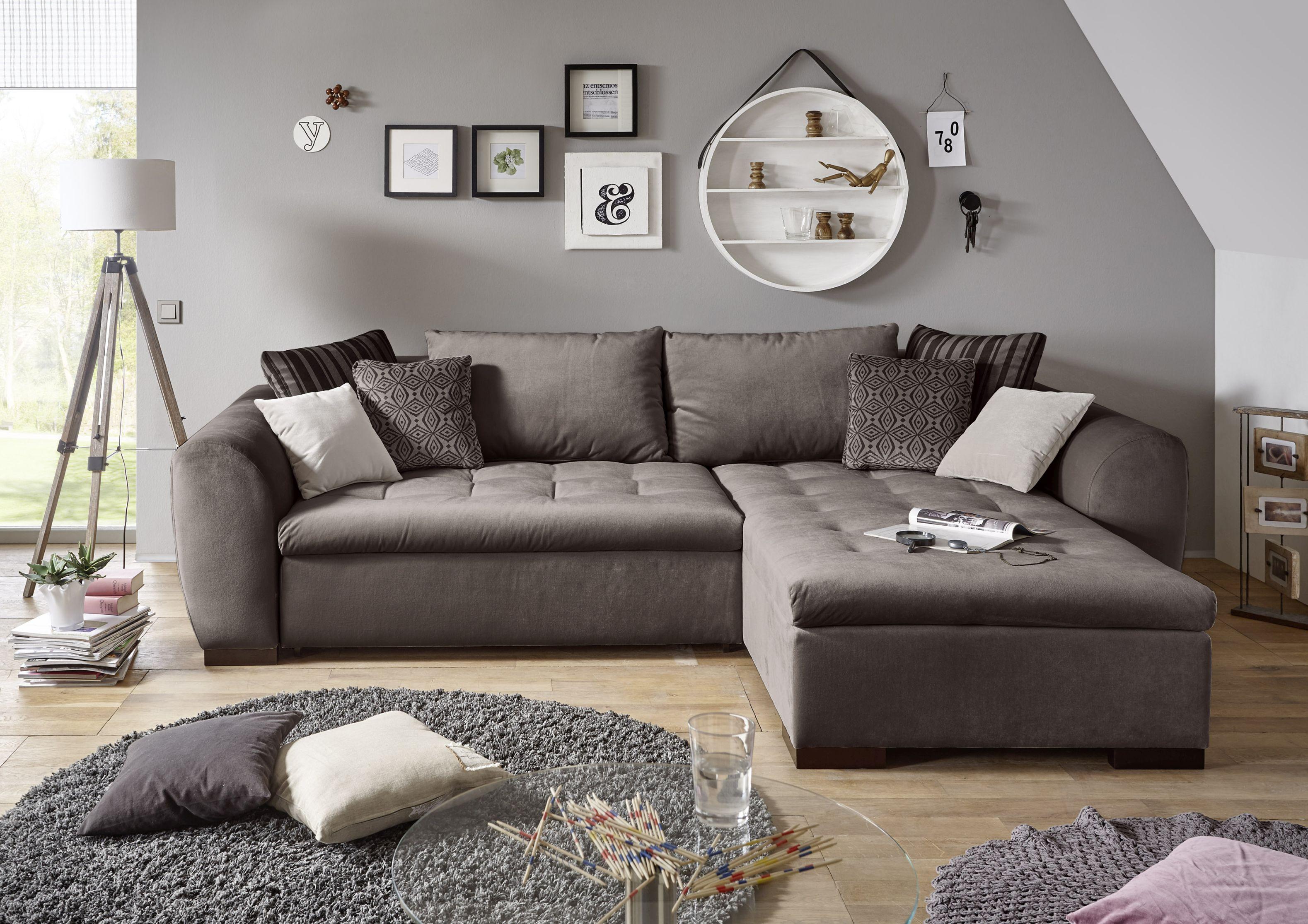 couch gaspar schlafcouch bettsofa schlafsofa sofabett funktionssofa ausziehbar braun 282 cm - Sofacouch Mit Schlafcouch
