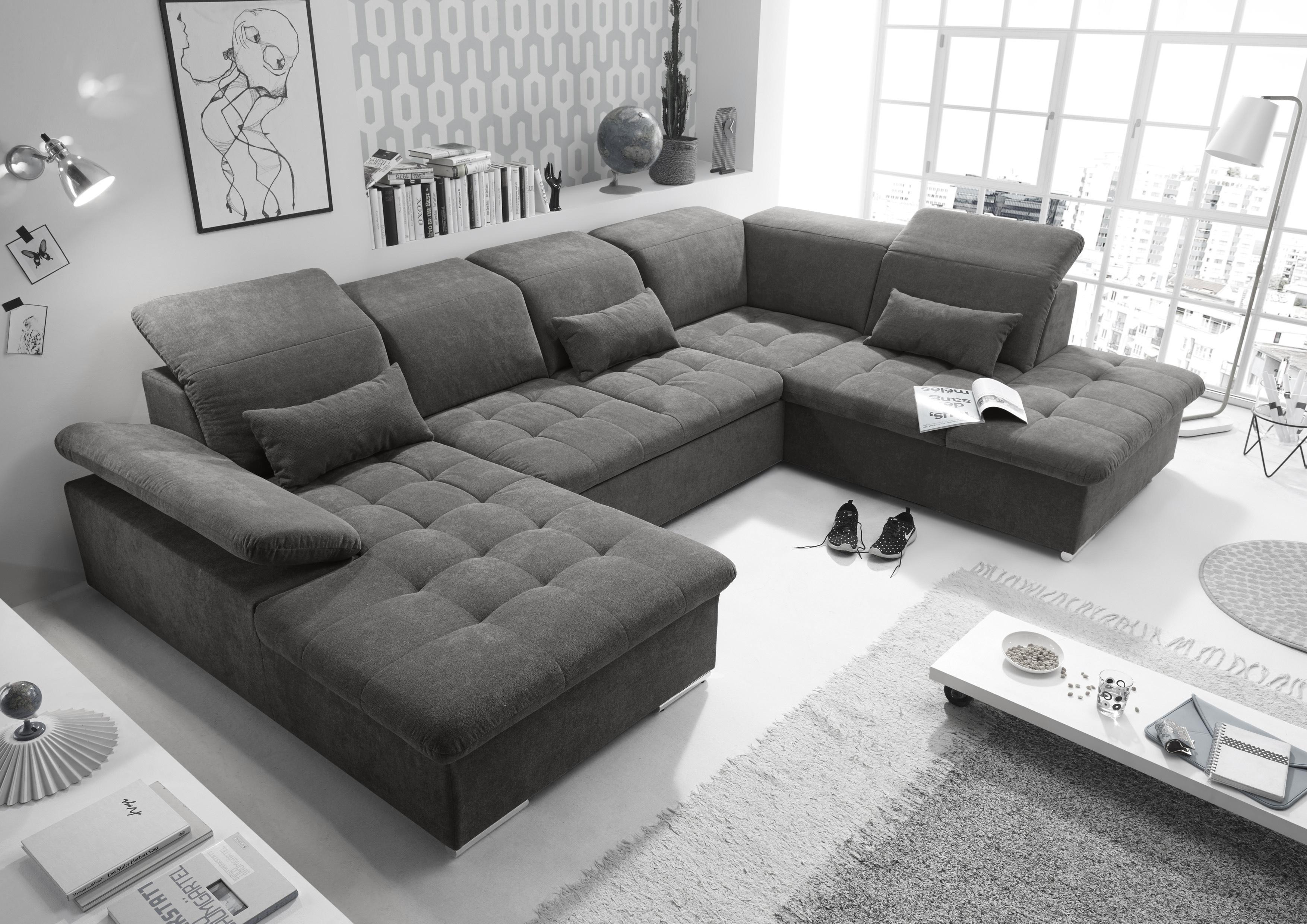 Couch WAYNE R Sofa Schlafcouch Wohnlandschaft ...