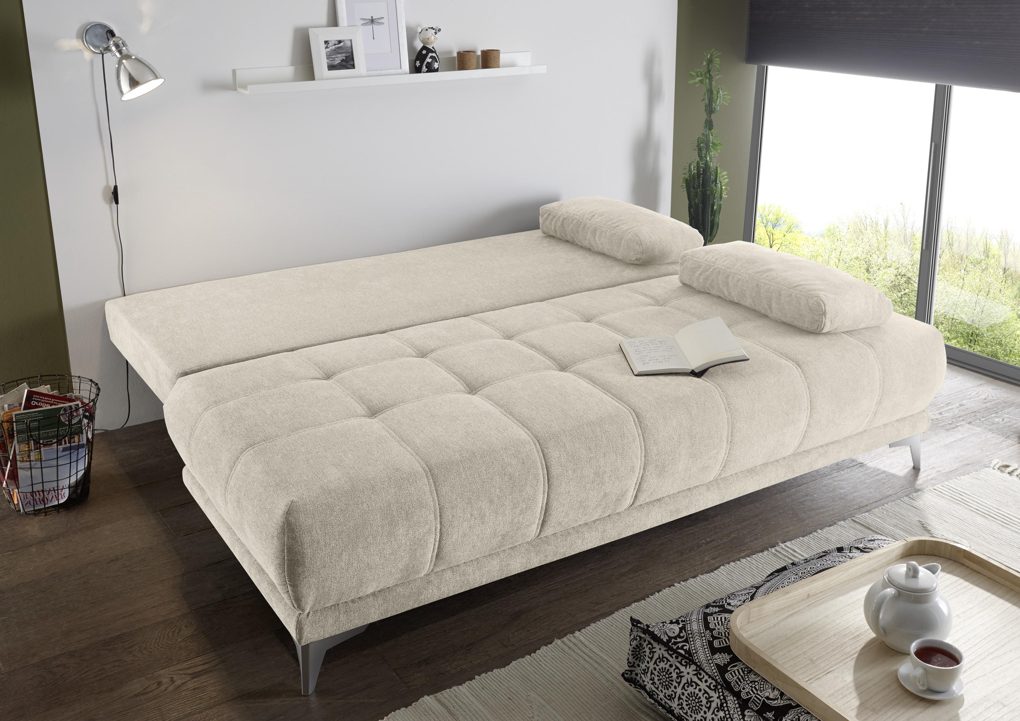 Couch Sofa Zweisitzer Jenny Schlafcouch Schlafsofa Ausziehbar Sand Beige 203cm Ebay