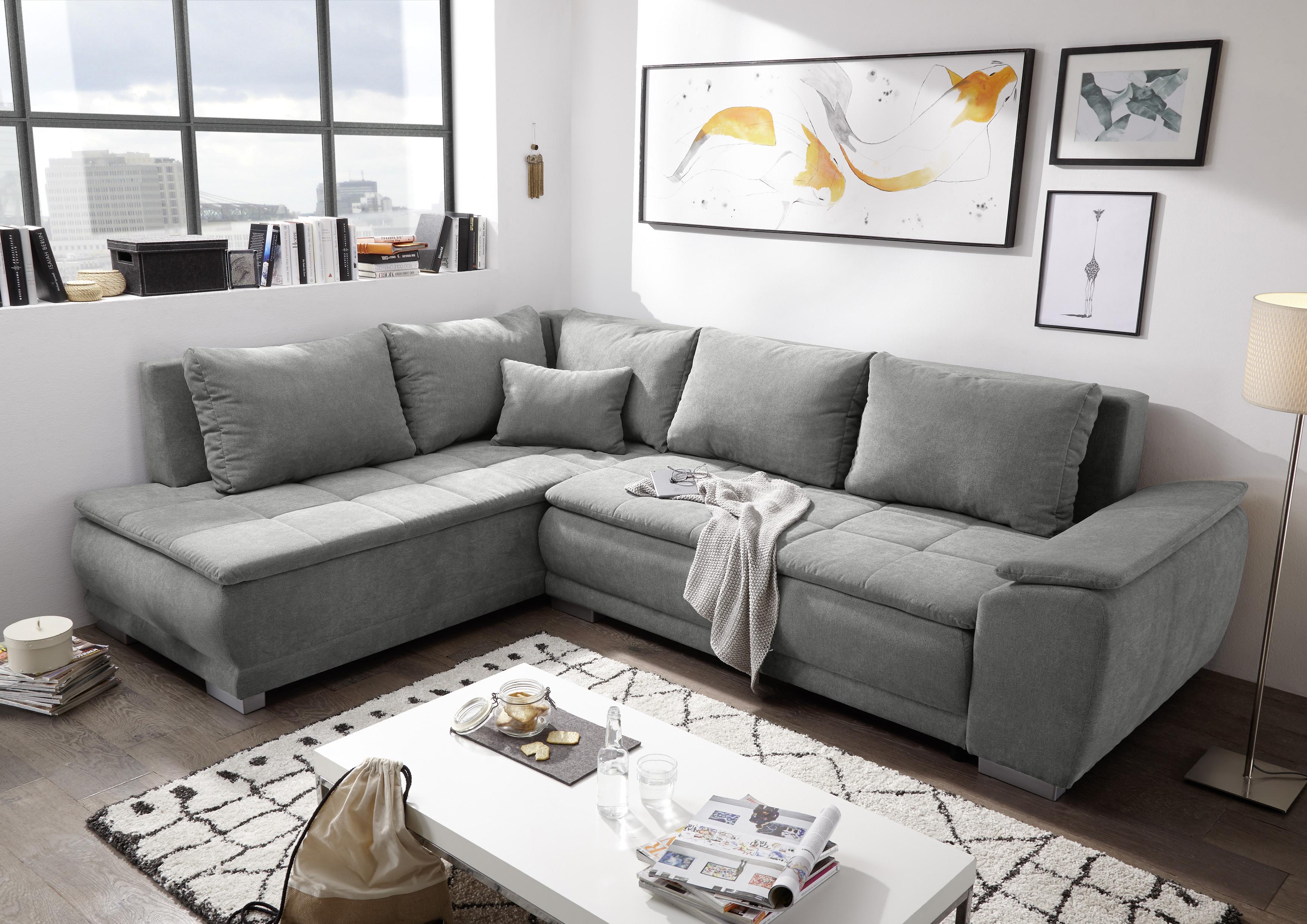 ecksofa couch malia sofa schlafcouch bettsofa schlamm grau. Black Bedroom Furniture Sets. Home Design Ideas