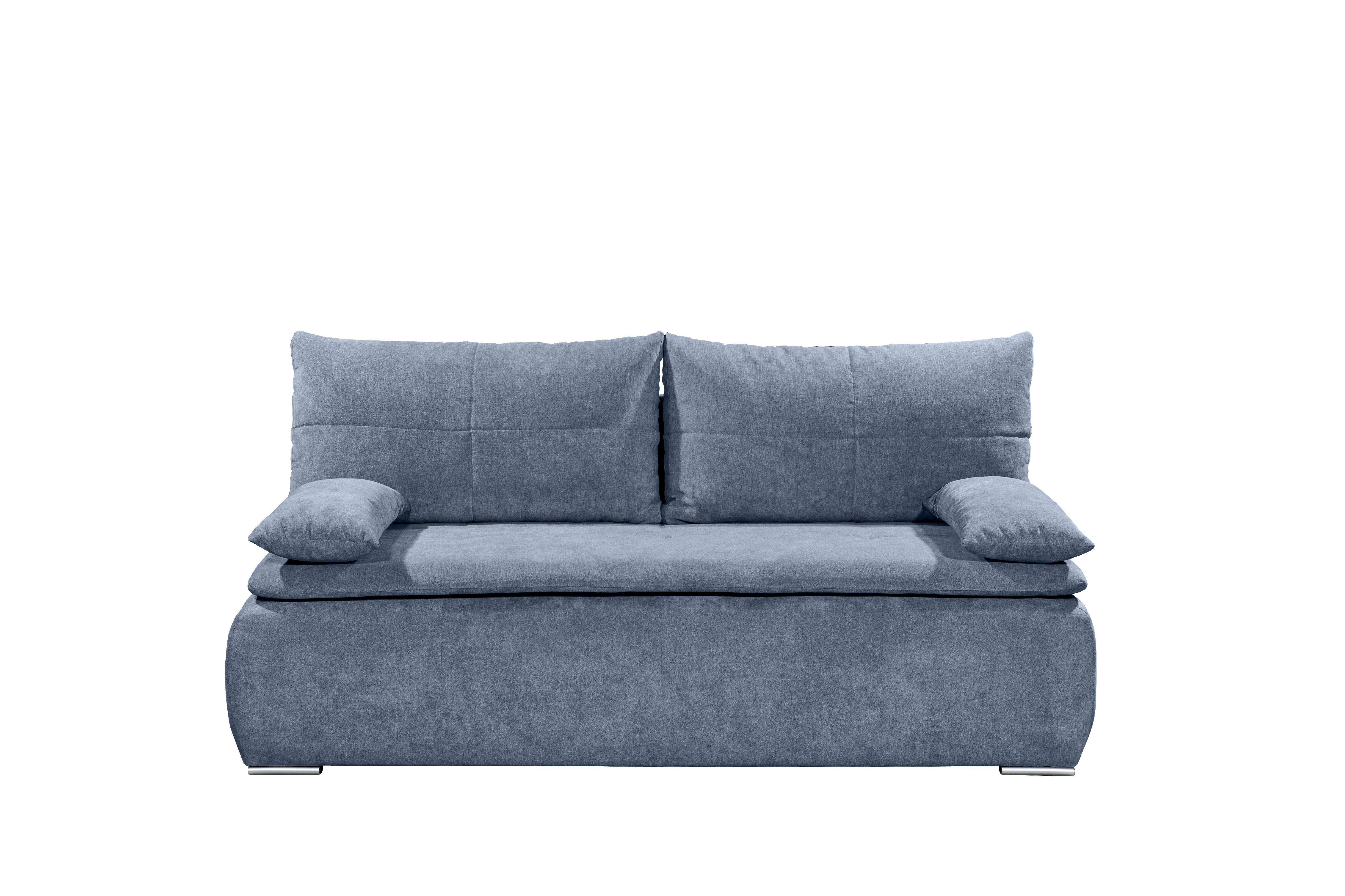 Details Zu Couch Jana Zweisitzer Sofa Schlafcouch Schlafsofa Ausziehbar Denim Blau 208 Cm