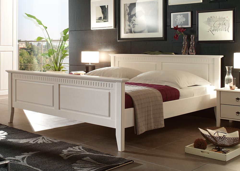 doppelbett verona bett ehebett schlafzimmer 180x200 kiefer. Black Bedroom Furniture Sets. Home Design Ideas