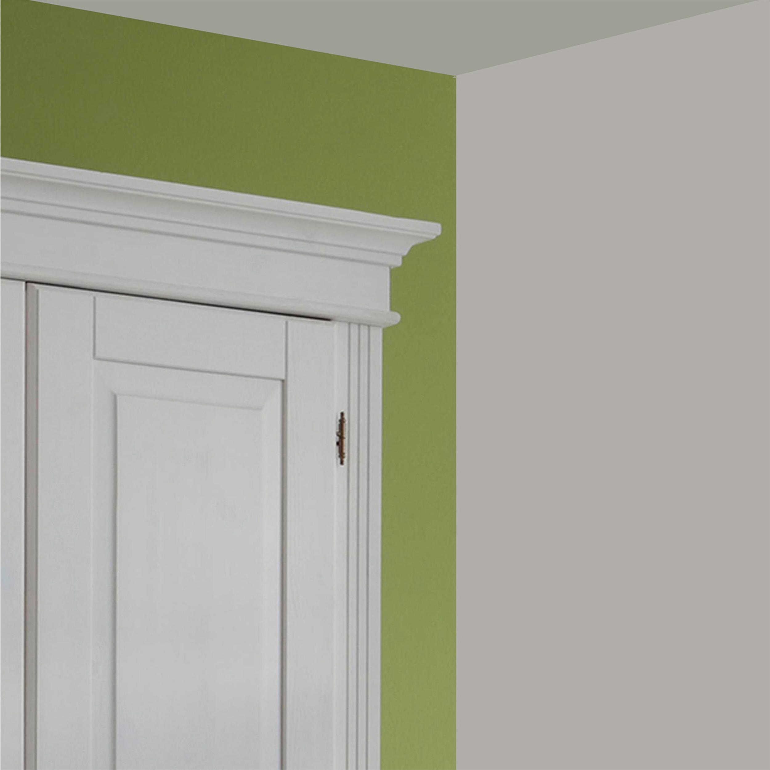 dielenschrank kleiderschrank garderobenschrank landhausstil kiefer wei massiv ebay. Black Bedroom Furniture Sets. Home Design Ideas
