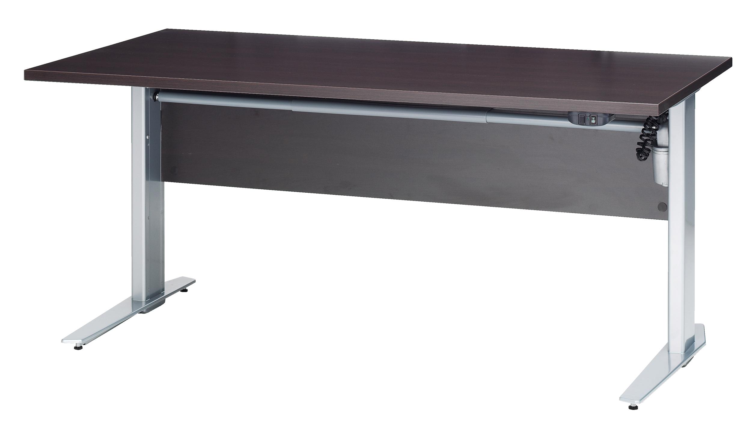 Schreibtisch 150cm h henverstellbar elektrisch motor for Schreibtisch dunkelbraun