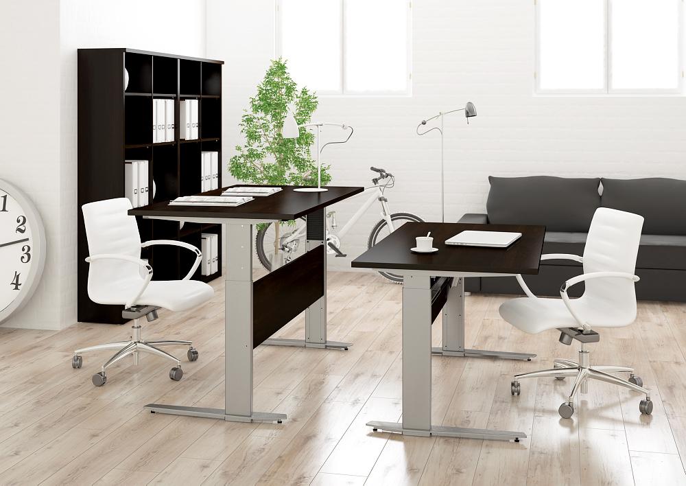 schreibtisch prima h henverstellbar elektrisch ergonomisch 150cm schwarz grau ebay. Black Bedroom Furniture Sets. Home Design Ideas