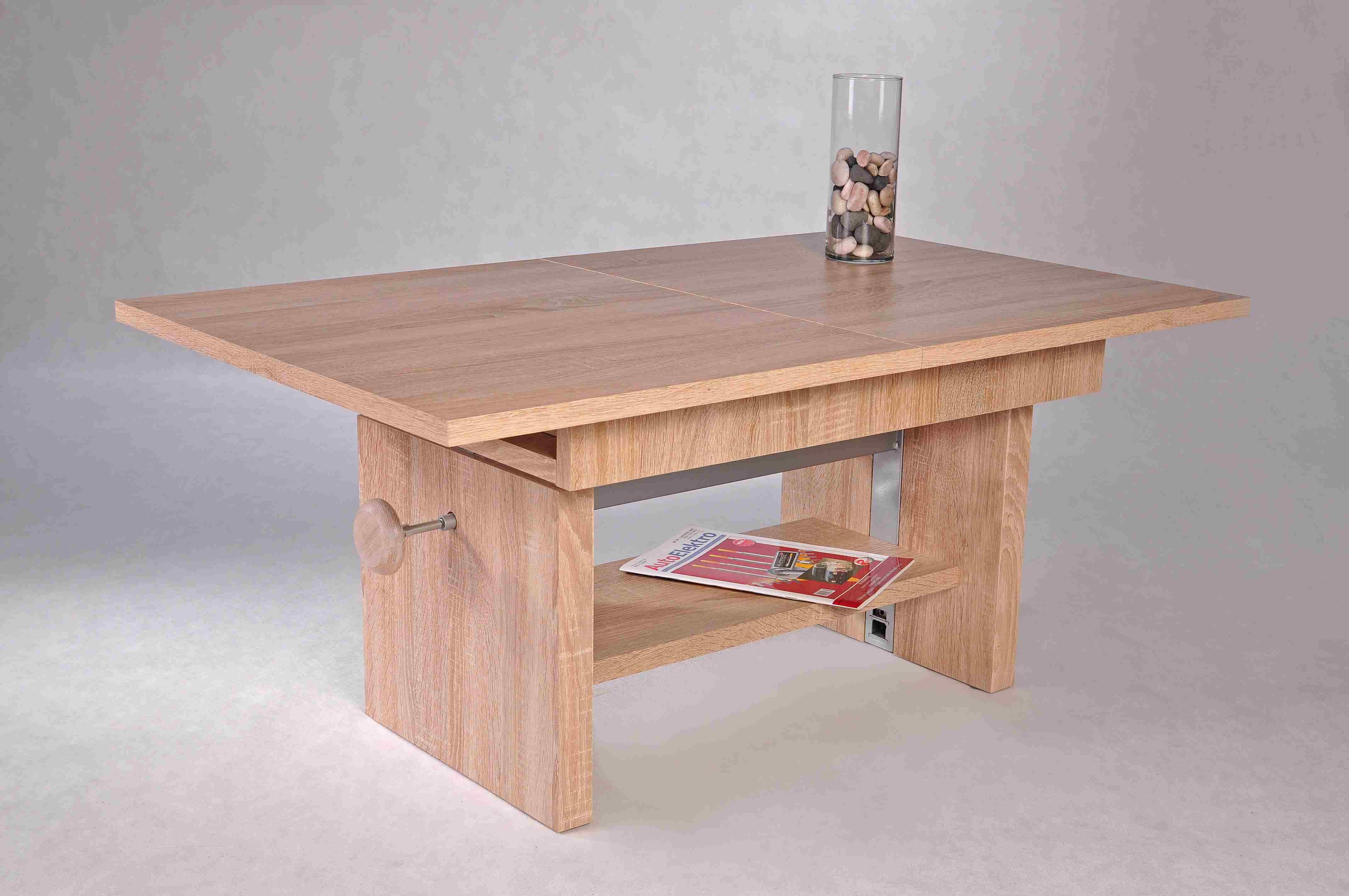 couchtisch event wohnzimmertisch beistelltisch tisch h henverstellbar in sonoma ebay. Black Bedroom Furniture Sets. Home Design Ideas
