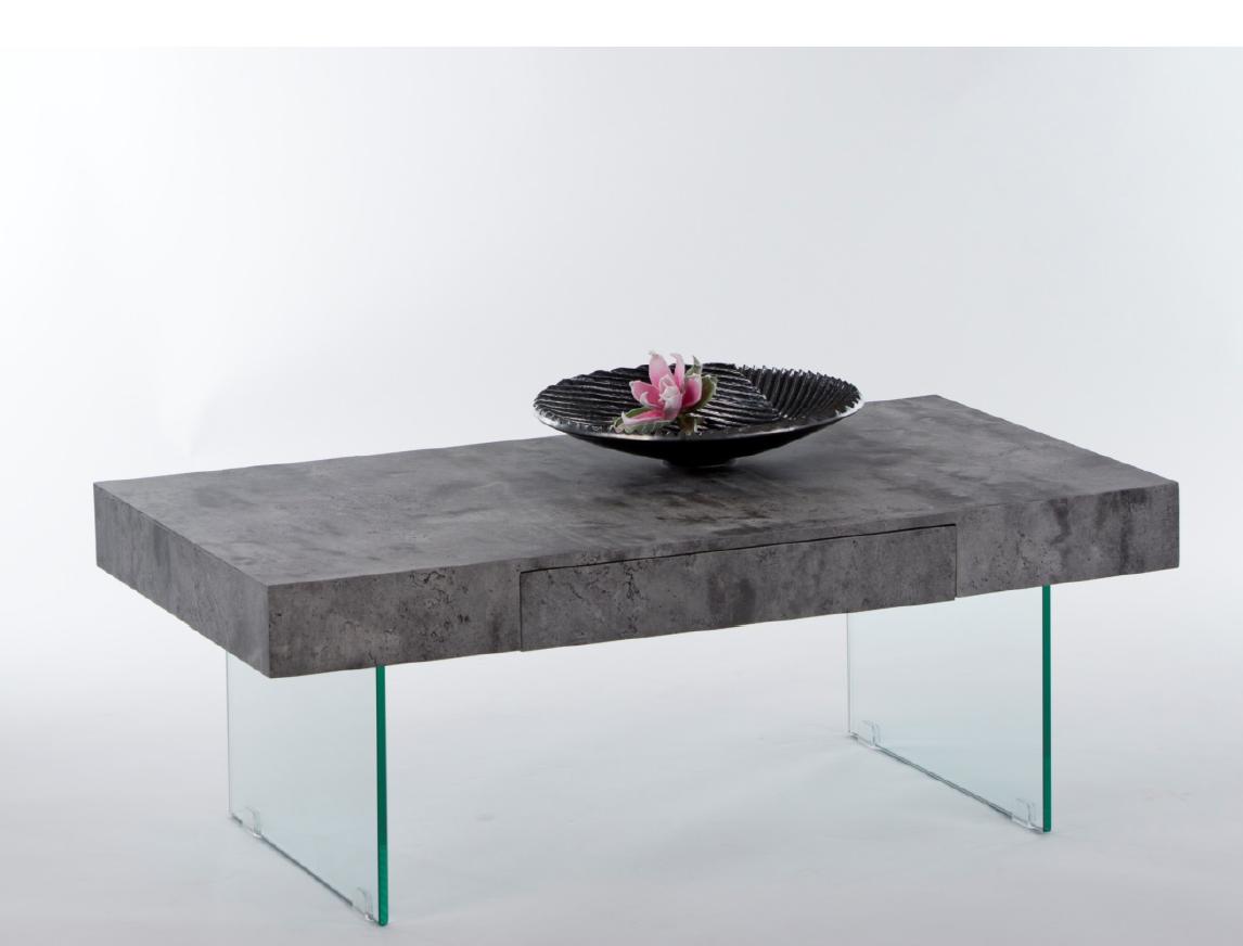 couchtisch daisy beistelltisch wohnzimmertisch tisch in beton optik ebay. Black Bedroom Furniture Sets. Home Design Ideas