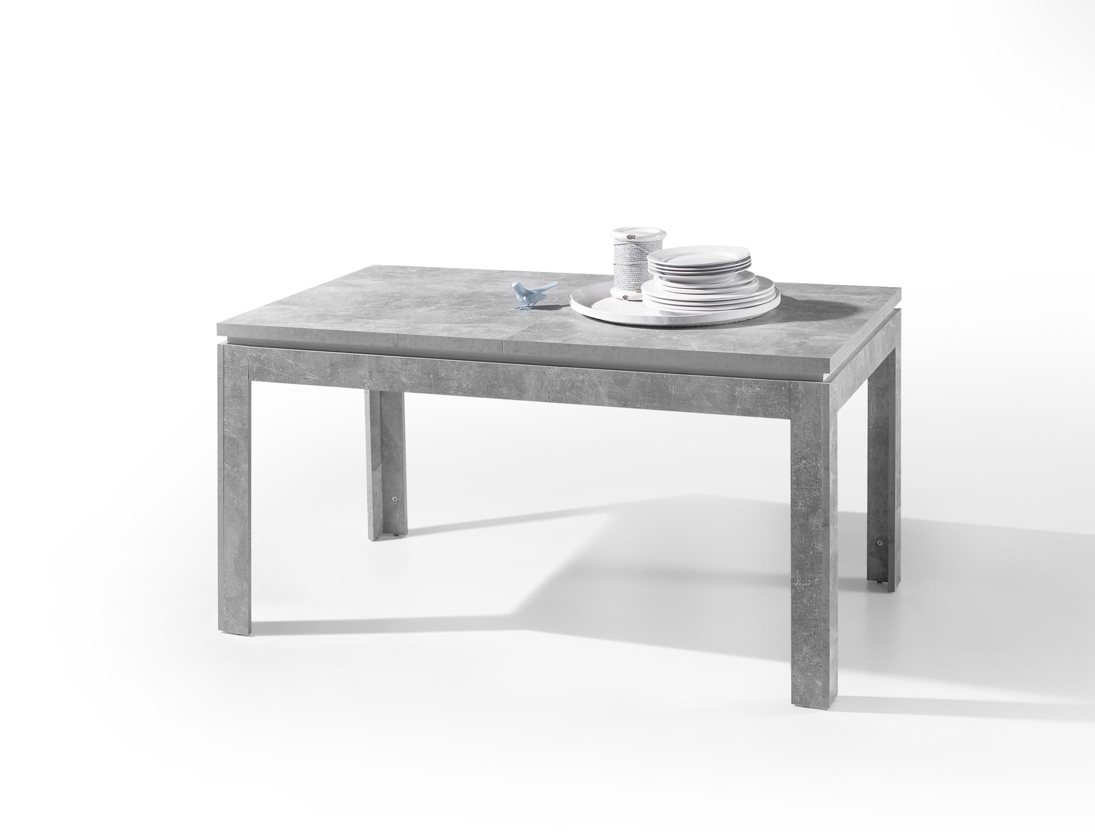 Esstisch Stone Esszimmertisch Küchentisch Tisch Ausziehbar Grau