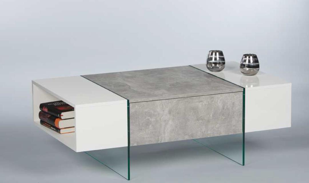 Beton wohnzimmertisch  Couchtisch FERRARA Wohnzimmertisch Beistelltisch Tisch in Beton ...