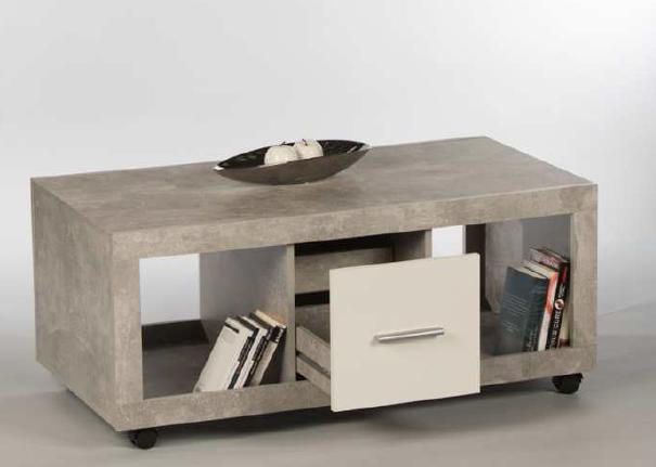 Couchtisch STONE Wohnzimmertisch Beistelltisch Tisch in Beton ...