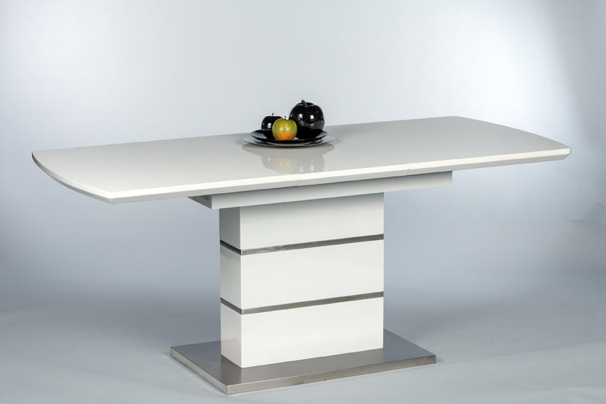 esstisch marina esszimmertisch dinnertisch k chentisch tisch ausziehbar weiss ebay. Black Bedroom Furniture Sets. Home Design Ideas