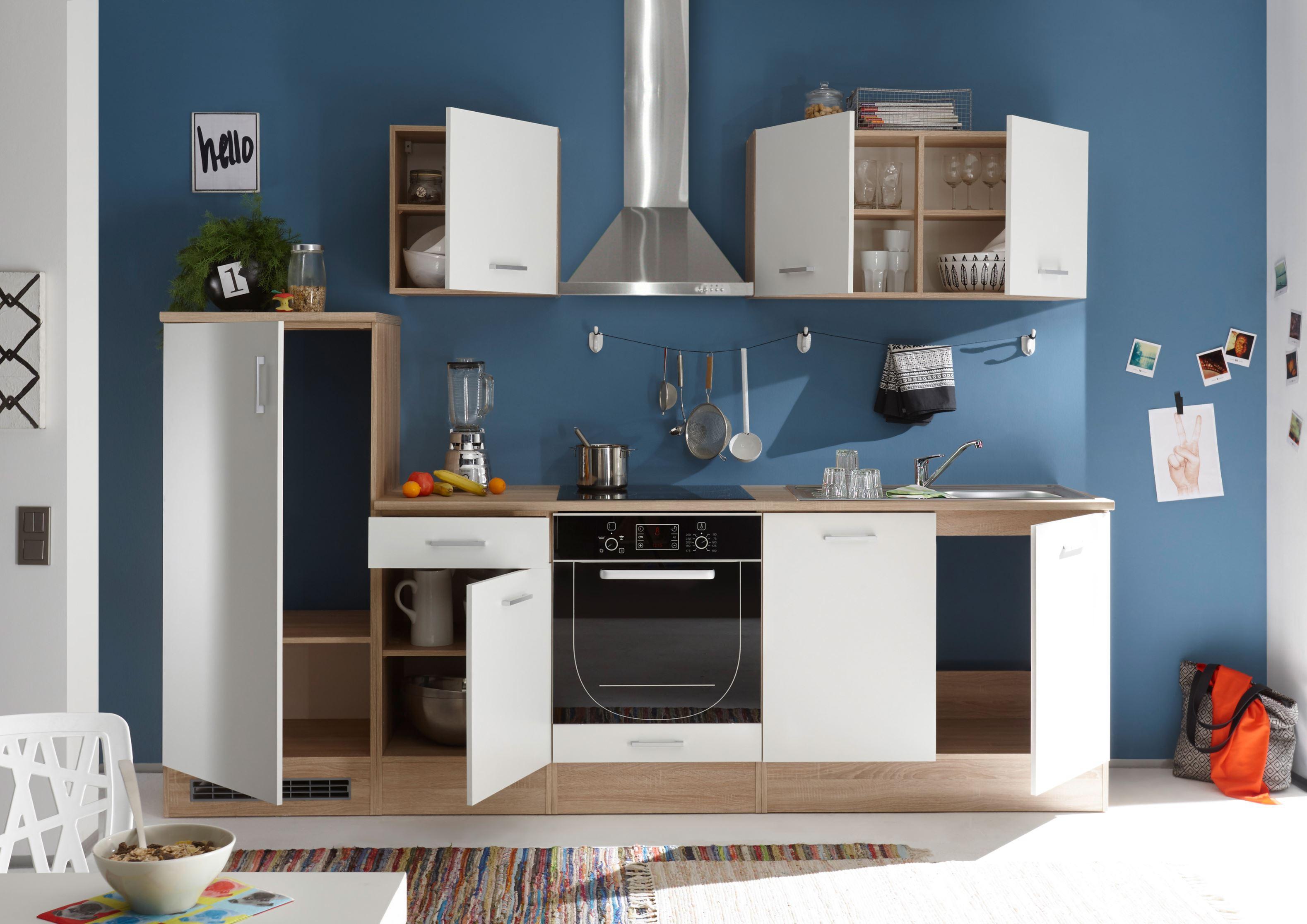 k che and k chenblock k chenzeile komplettk che 270cm singlek che minik che wei ebay. Black Bedroom Furniture Sets. Home Design Ideas