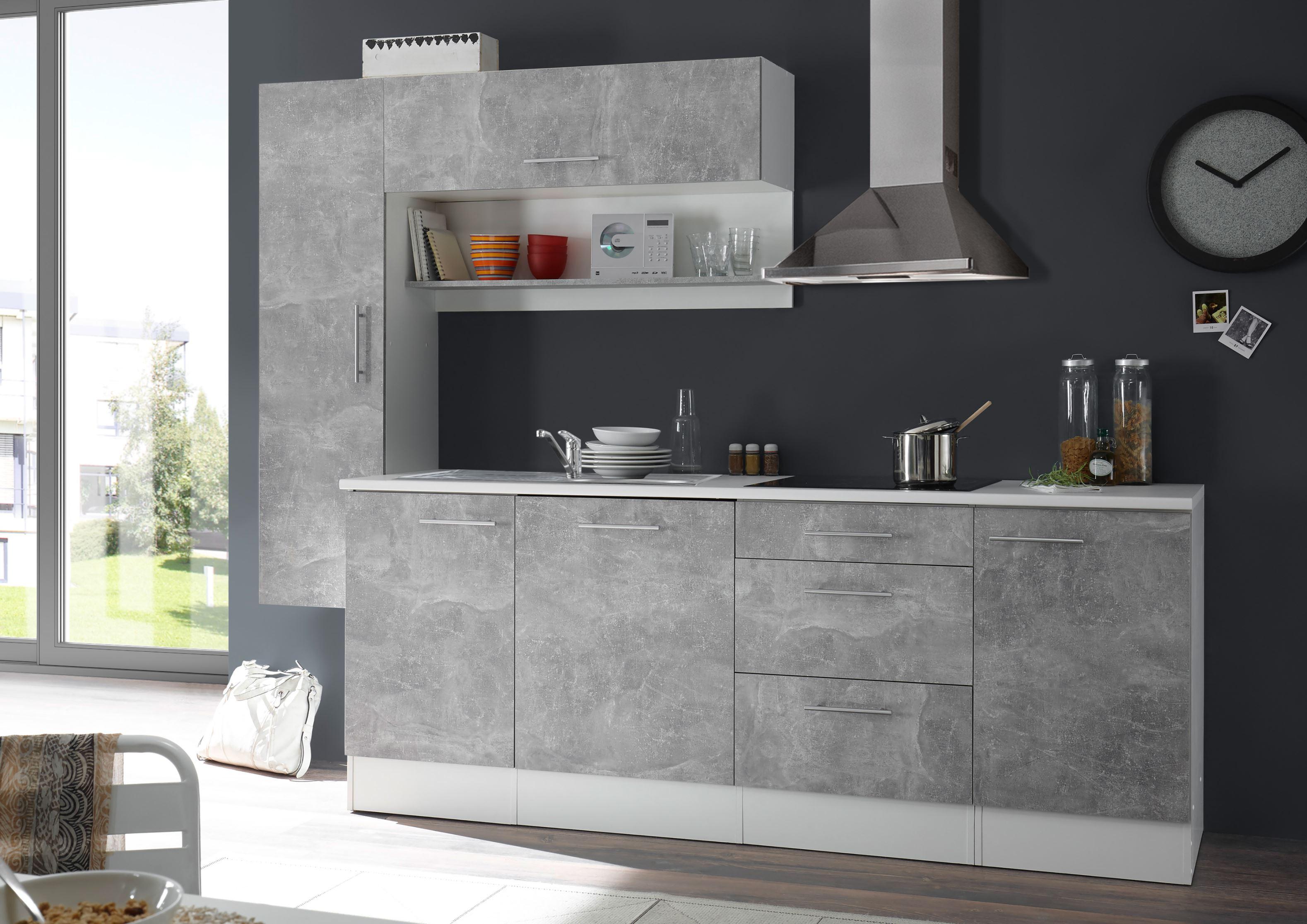 küche küchenblock küchenzeile 260cm einbauküche miniküche
