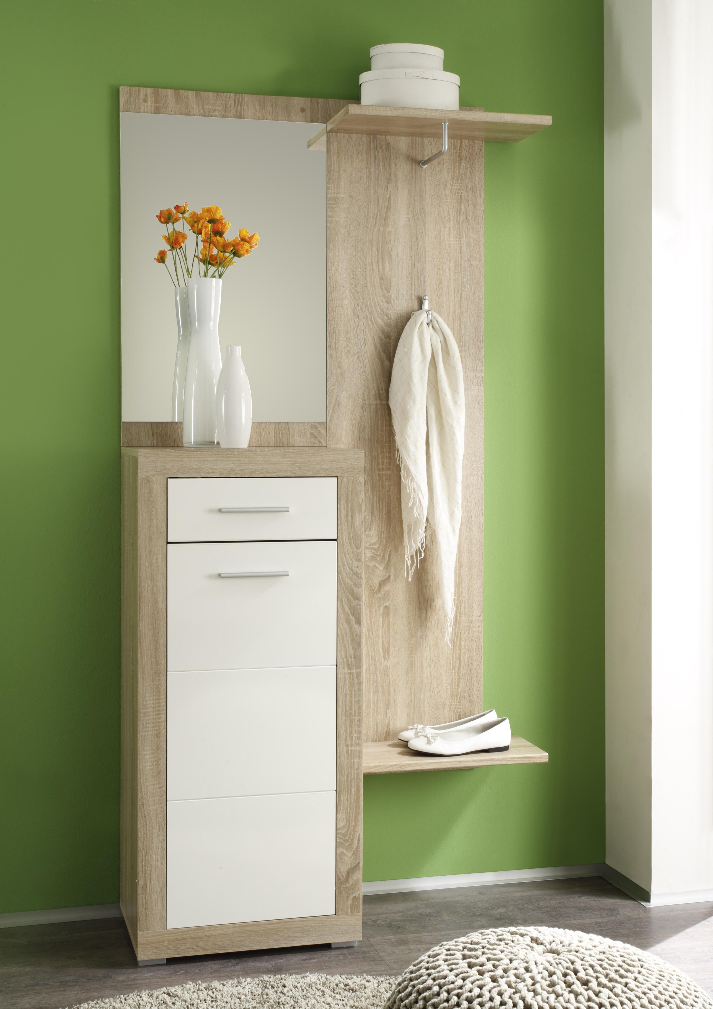 Garderobe Cancan3 3 Teilig Spiegel Paneel Kommode Eiche Sonoma