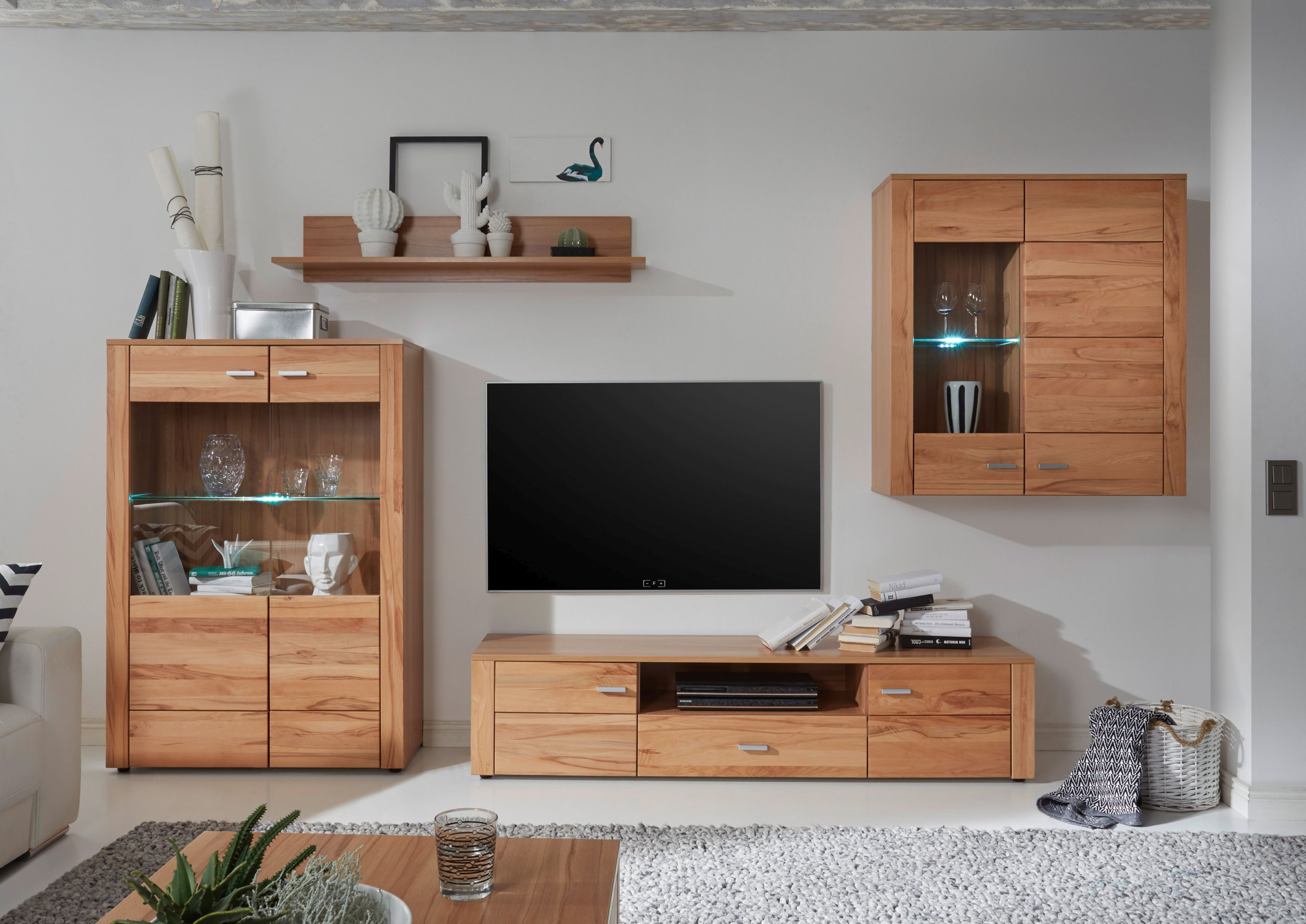 Wohnwand Wohnzimmer-Set \