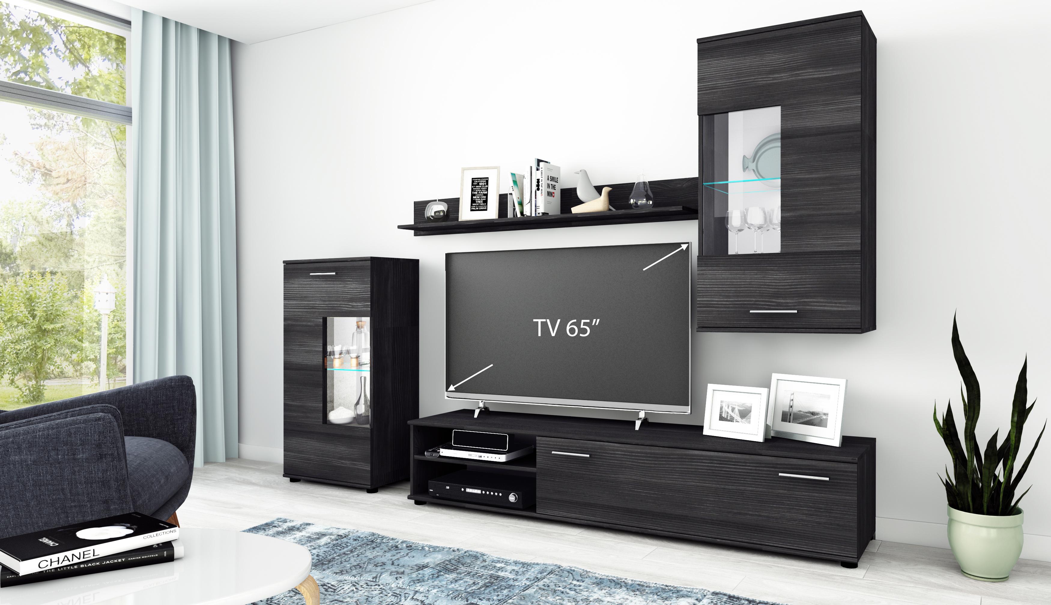 Details zu Wohnwand Anbauwand TV Wand Wohnzimmer Möbel Set \