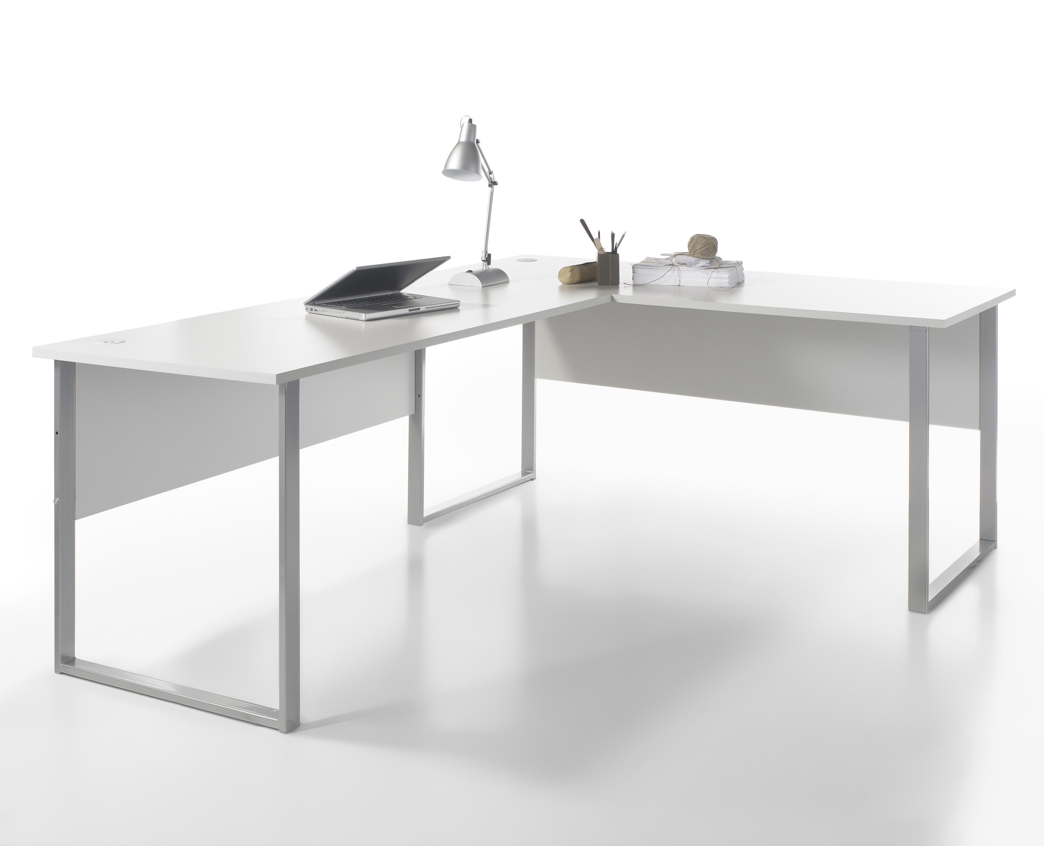 Büromöbel weiß grau  Büromöbel-Set OFFICE LINE LUX Schreibtisch Regalwand Büroeinrichtung ...