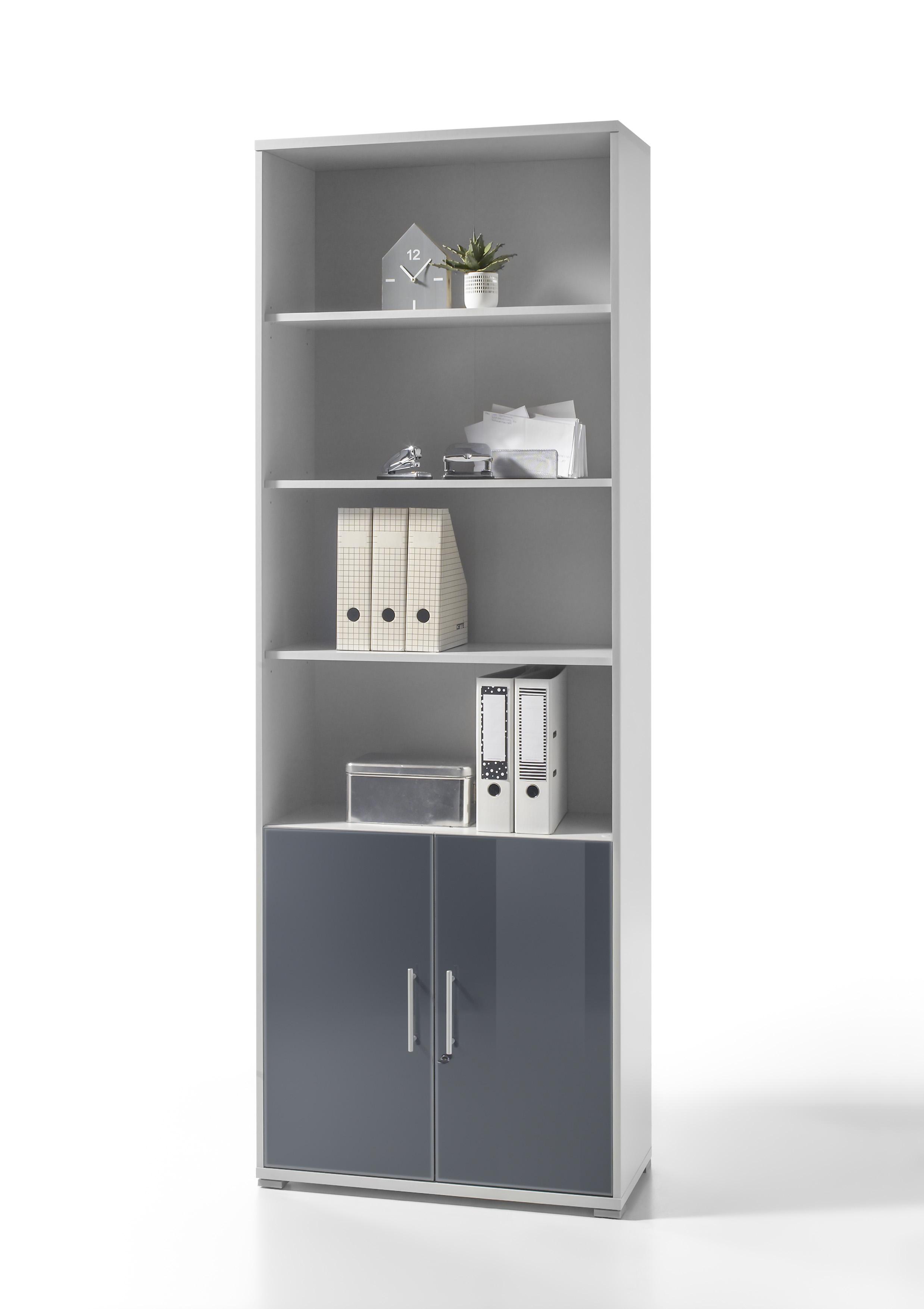 Büromöbel-Set OFFICE LINE LUX Schreibtisch Regalwand Büroeinrichtung ...