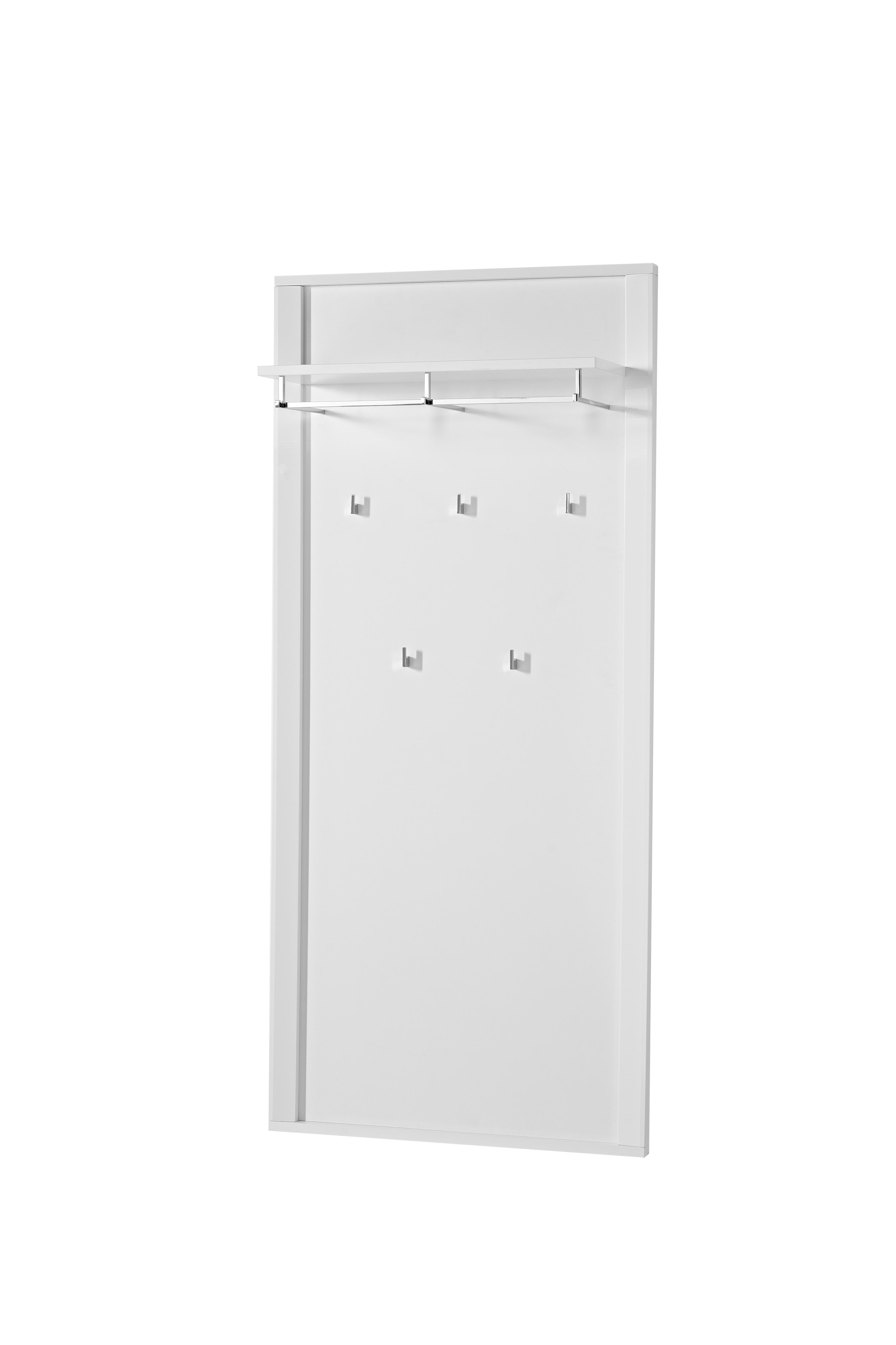 garderobe go 4 tlg paneel bank schuhschrank spiegel wei hochglanz ebay. Black Bedroom Furniture Sets. Home Design Ideas