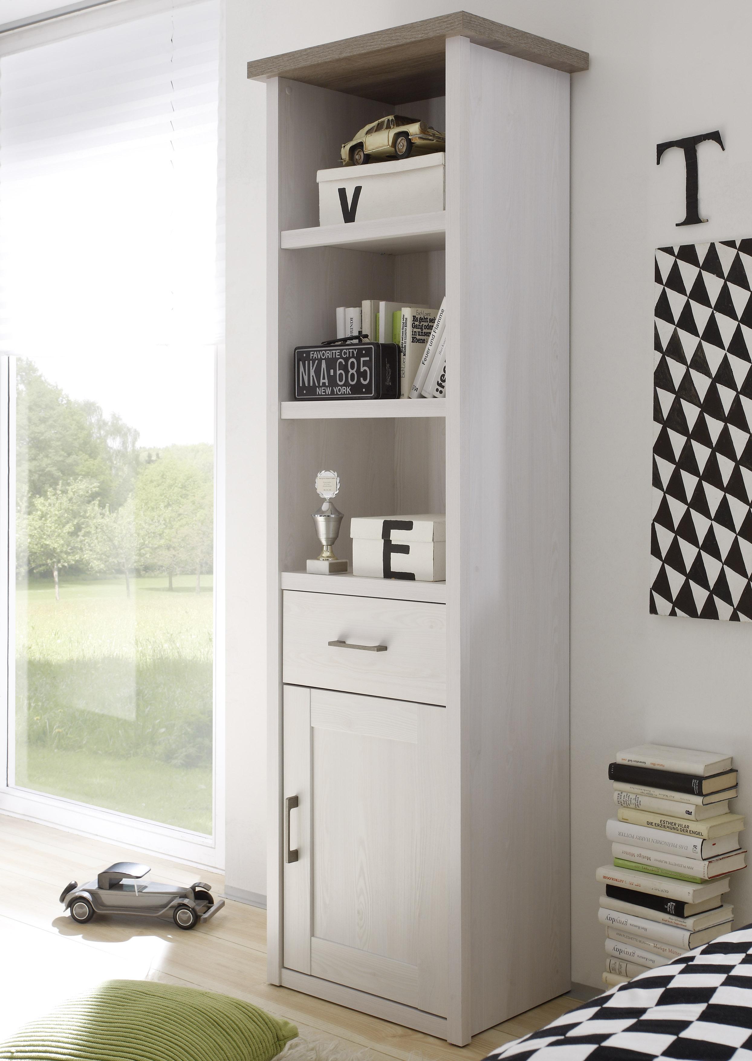 Bestellen Sie Jetzt Ihren Kinderzimmer Set LUCA Jugendzimmer 5tlg  Kleiderschrank Bett Nachttisch Schreibtisch Standregal Pinie Weiß Und  Weitere Günstige ...